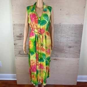 Vintage 70's 80's Phool Maxi Dress